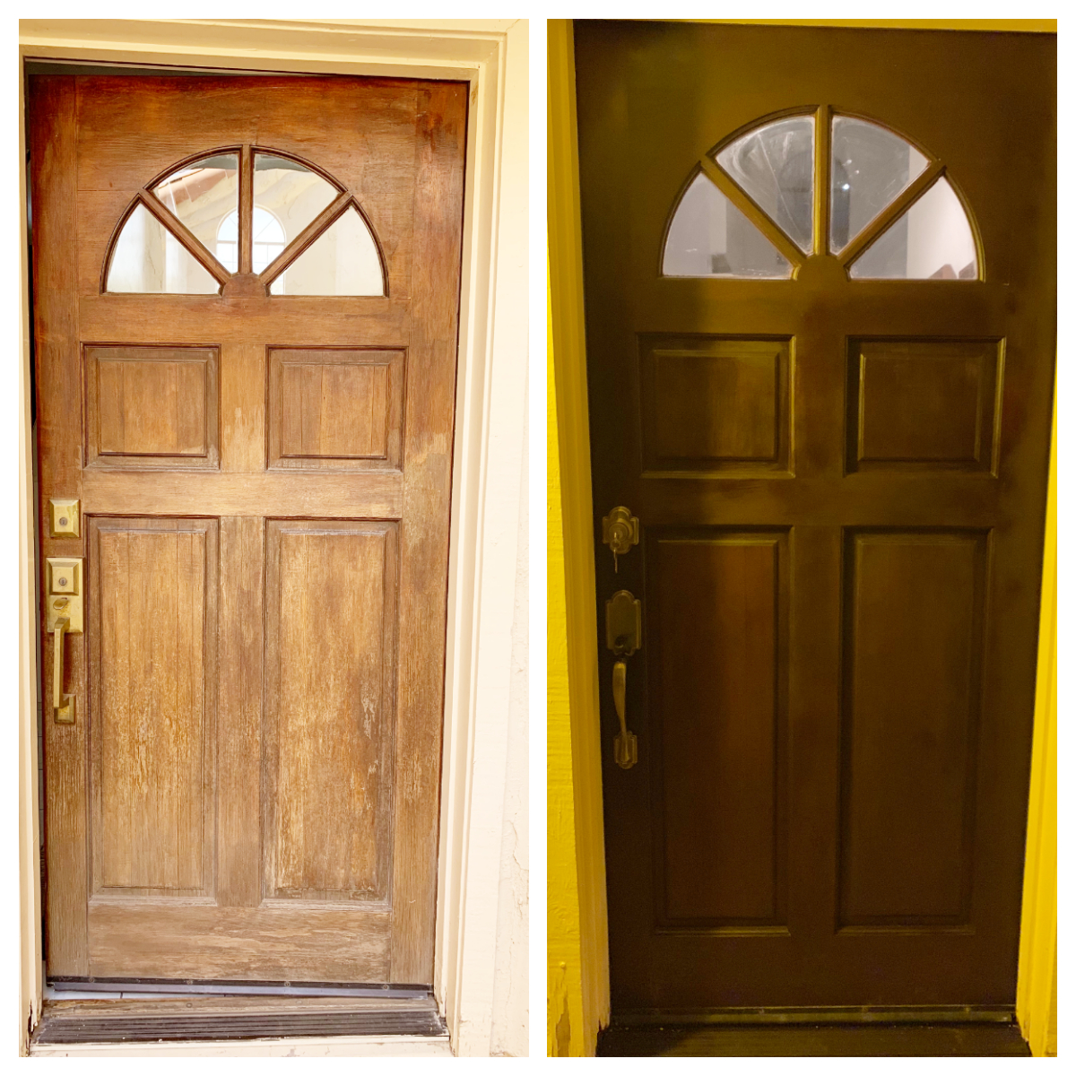 Front door re-stain and surface Az Express Services chandler az 85225
