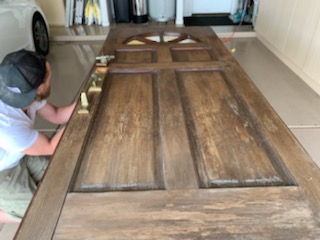how to stain a front door diy