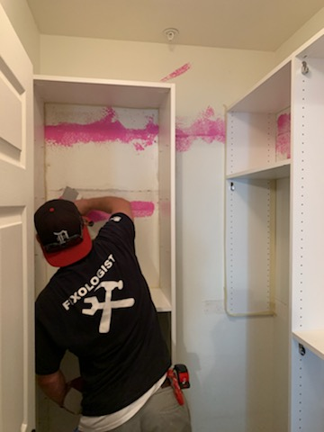 handyman dry wall repair closet walls before and after chandler az5