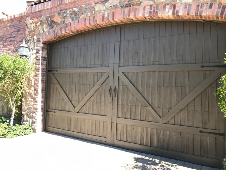 new wood garage door